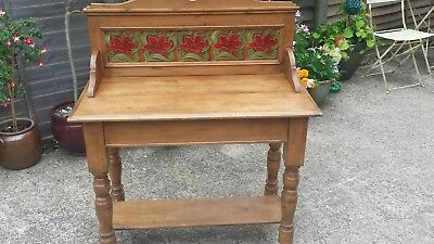 Stunning Victorian Antique Old Washstand /Table - Can Deliver See Description
