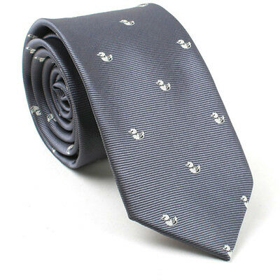 Mens Printing Slim Skinny Tie Necktie New Cocktail Party Work Ties CB