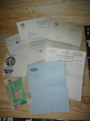 documents anciens  REGENT PALACE HOTEL 1936