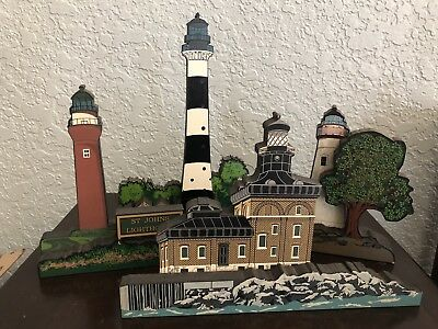 Shelia's Collectible Lighthouse Lot Of 4
