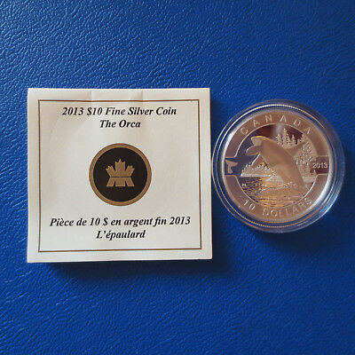 Kanada 10 $ 2013 O Canada The Orca Silber in PP mit Zertifikat (192)
