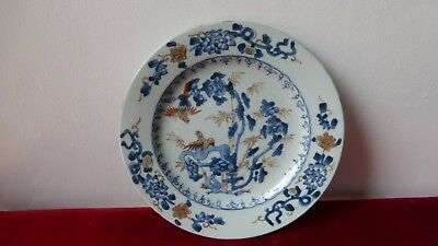 Antique chinese export porcelain plate. XVIIIth C. Ancienne assiette Chine....74