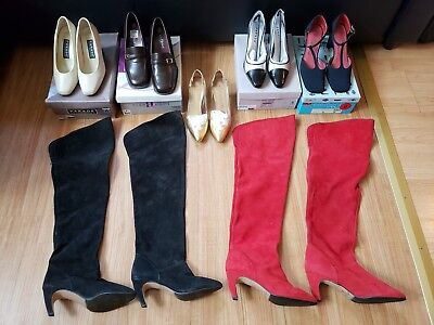 7 pairs LOT Women's Heels Shoes/boots - Size 6