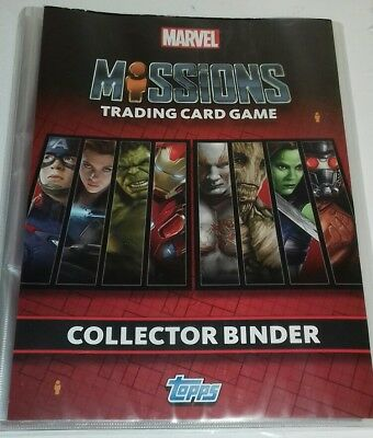 MARVEL UNIVERSE - Missions Trading Cards Topps Collectors Binder + 60 Cards Lot