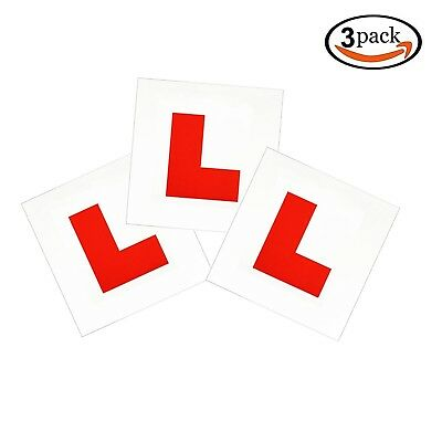 Fully Magnetic Red L Plates 3 Pack, GoFriend Upgraded Learner Plates Extra St...