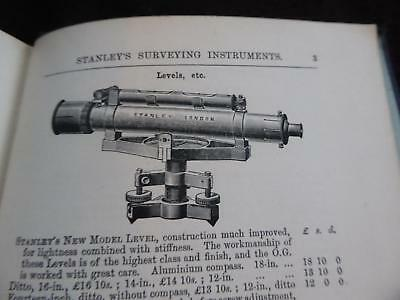 1902 Superb Surveying And Instruments Including Stanley, Quality Illustrations