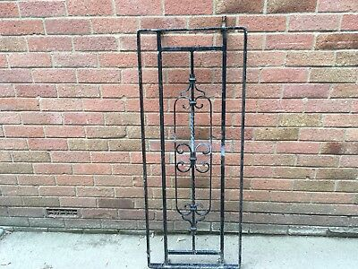 Vintage Wrought Iron Window Security Grill