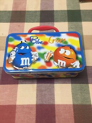 M&M Tin Metal Lunch Box with Handle With All  Characters