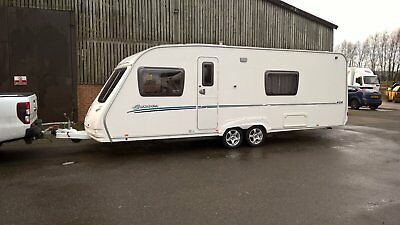 Sterling Europa 620 Twin Axle 4 Berth Caravan 2008 Model Complete with Awning