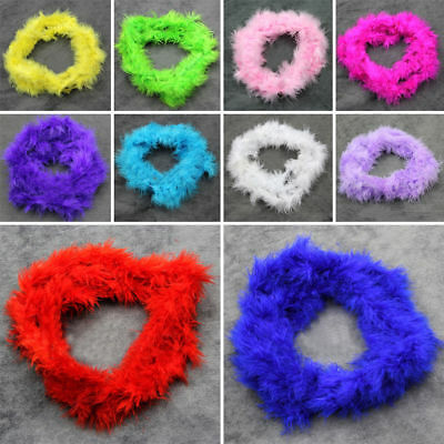 Length Feather Boa Strip Fluffy Costume Hen Night Party DIY Accessories Purple