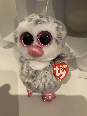 "fc1561aedec Ty Beanie Boo Very Rare Olive The Owl Grey Pink Tagged Retired 6"" Approx"