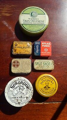 Antique and Vintage Tins Lot of 7