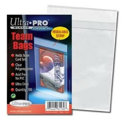 Ultra Pro Resealable Team Bags (holds 20-30 cards) (100 Pk) #81130
