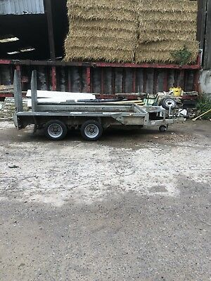 Ifor Williams Gx106 Plant Mini Digger Dumper Builder Tractor Ramp Trailer 3500kg