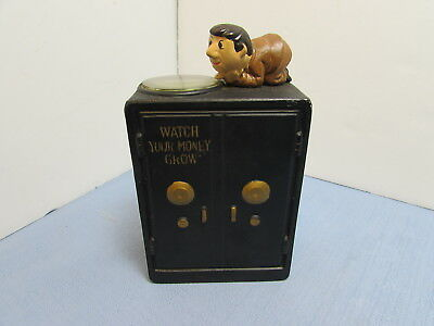 Coin Bank Beggar Hobo Retirement Fund Collectible Our Town Import Japan
