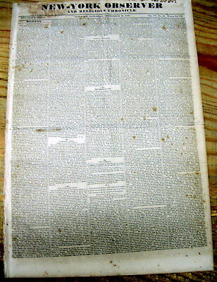 1828 newspaper with long description of EXTREME CRUELTY TO A FEMALE NEGRO SLAVE