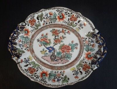 Antique Plate Bombay Japan No. 805 Flow Blue Early 1800s Stunning