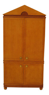 30275EC: HICKORY WHITE CO. Biedermeier Satinwood Bedroom Armoire