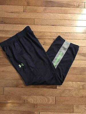 Boys Under Armour Athletic Pants Navy blue Size Youth Medium Loose Fit