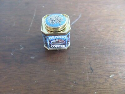 Dollhouse Miniature Hennig Coffee Container Can