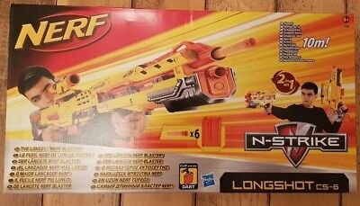 Nerf N-Strike Yellow Longshot CS-6 Brand New Unopened Box