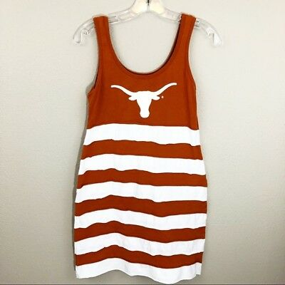 Women's UT University Texas Longhorns Football Dress Small Layered Tank