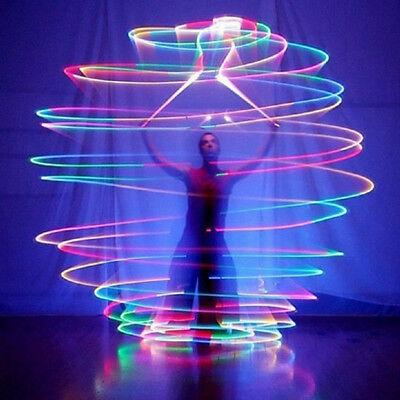 NEW 4PCS Colorful LED Glow POI Thrown Balls Light Up For Belly Dance Hand Props