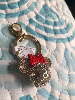 Disney Minnie Mouse Icon Rhinestone & Red Bow Key Chain Park Exclusive Key Chain