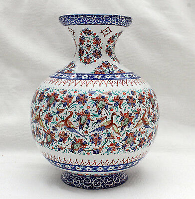Beautiful Antique Vase Copper Enameled Approx. 1900 South-East Asia Indonesia