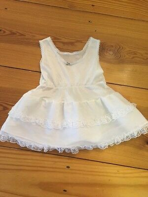 Vtg White Nylon Toddler  Slip