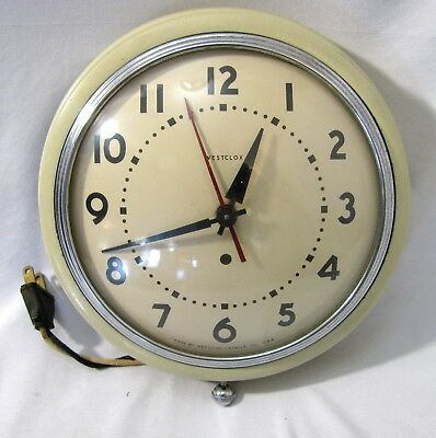 Vintage Westclox Manor Wall Clock Electric Arabic Numbers Made In USA Working