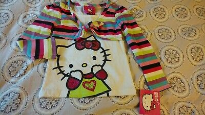 Hello Kitty In Fun Strips And Colors Little Girls Size 3T