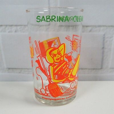 "Vintage Archie Comics ""Sabrina Cleans Her Room"" Welch Jelly Juice Glass 1971"