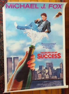 """Michael J. Fox THE SECRET OF MY SUCCESS Movie Poster-27"""" by 41"""""""