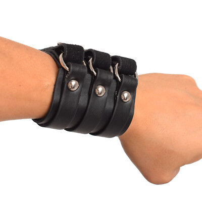 1pc Men LARP Cosplay Medieval Armor Genuine leather Bracer Wristband Accessory