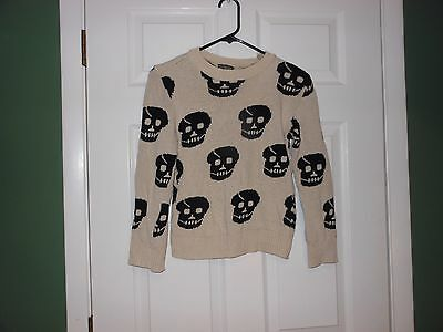 Youth ANYBODY UK Halloween Ready SWEATER w SKULLS 2 Looks KIDS LG? Costume Party