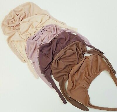 TIE BACK BONNET Cap Premium Hijab Scarf Chemo Underscarf Excellent for Gripping
