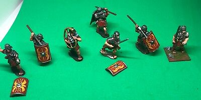 10 X Wargames Foundry EIR 28mm Romans, partially painted, metal figures