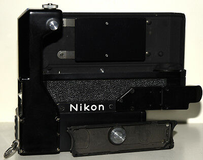 Nikon F-36 motor drive w/ cordless battery pack and motor plate mint-
