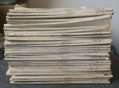 Hobbies Magazine The Magazine For Collectors Lot of 33 1959-69