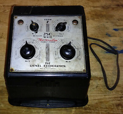 Collectible Lionel Type Z 250 Watts Power Supply Transformer O Scale