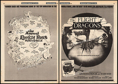 THE FLIGHT OF DRAGONS__Original 1980 Trade AD promo / poster__RANKIN / BASS_1982