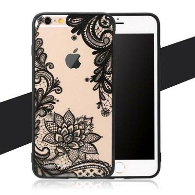 For iphone XSMAX XR XS soft phone case with Lace Retro Vintage Floral Flower