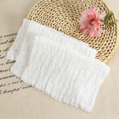 Six Layer Bath Towel Pure Cotton Gauze Infant Towel Newborn Bath Towel White