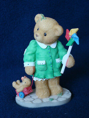 Cherished Teddies - Kim - Girl With Pinwheel Figurine - 661872 - 1999
