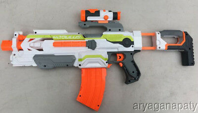 Nerf N-Strike Modulus ECS-10 Dart Gun Blaster With Scope Mag Magazine Clip