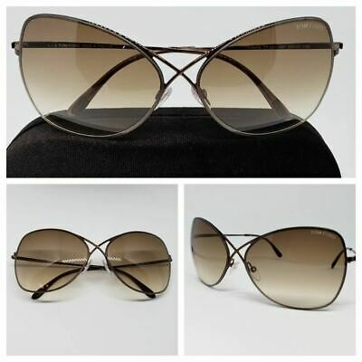 969d01a83fbbb Tom Ford Women s Sunglasses Colette Brown Gradient Butterfly TF0250 S 48F