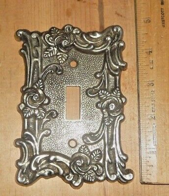 Vintage American Tack & Hdwe Co Light Switch Plate 1967 60T Brass Light Cover