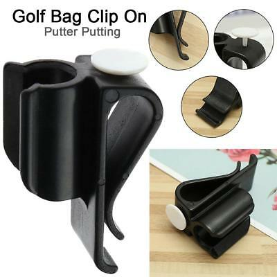 Durable Golf Bag Clip On Putter Clamp Holder Putting Organizer Club Ball Marker