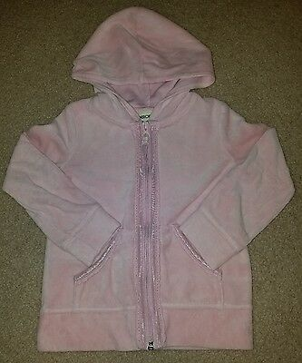Outerwear Fast Deliver Tcp Baby Luxuries Pink Velour Hooded Jacket 3-6 Lr Girls' Clothing (newborn-5t)
